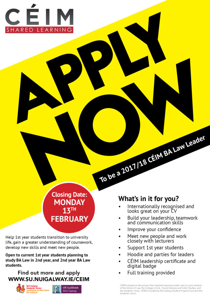 CÉIM Law Leader Recruitment 201718_English