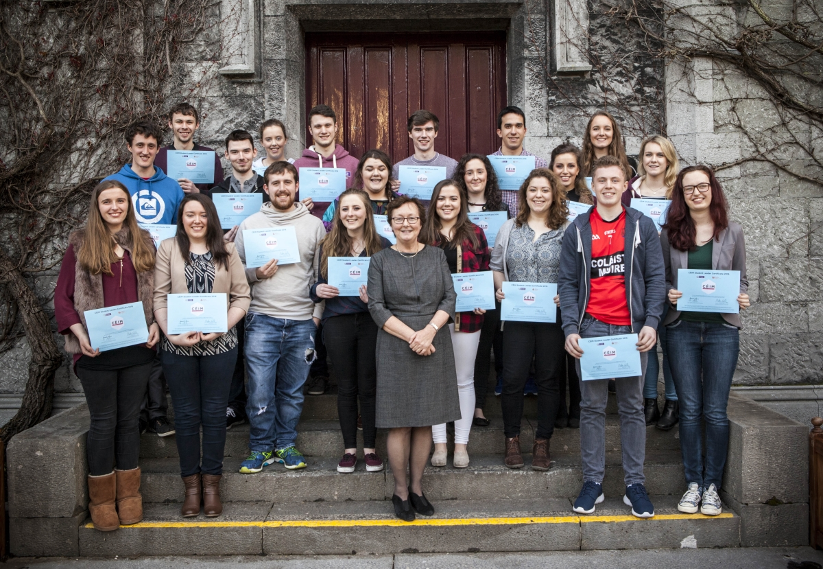 2015/16 Engineering Student Leaders with Dr. Annette Harte, Vice Dean for Teaching and Learning in the College of Engineering and Informatics.