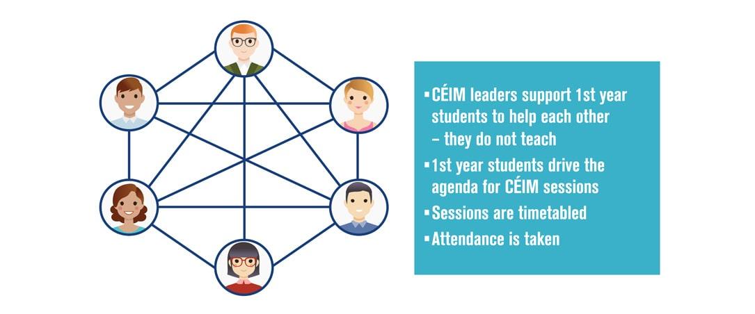 CÉIM Group Peer-Led Learning Diagram